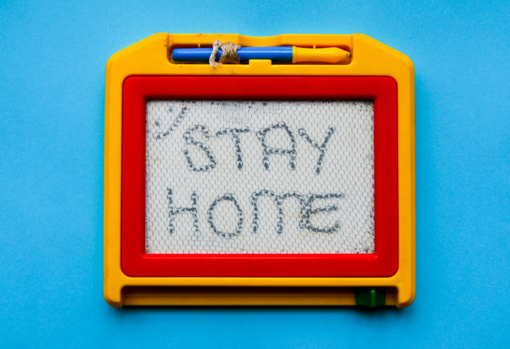 """Tafel """"stay home"""""""