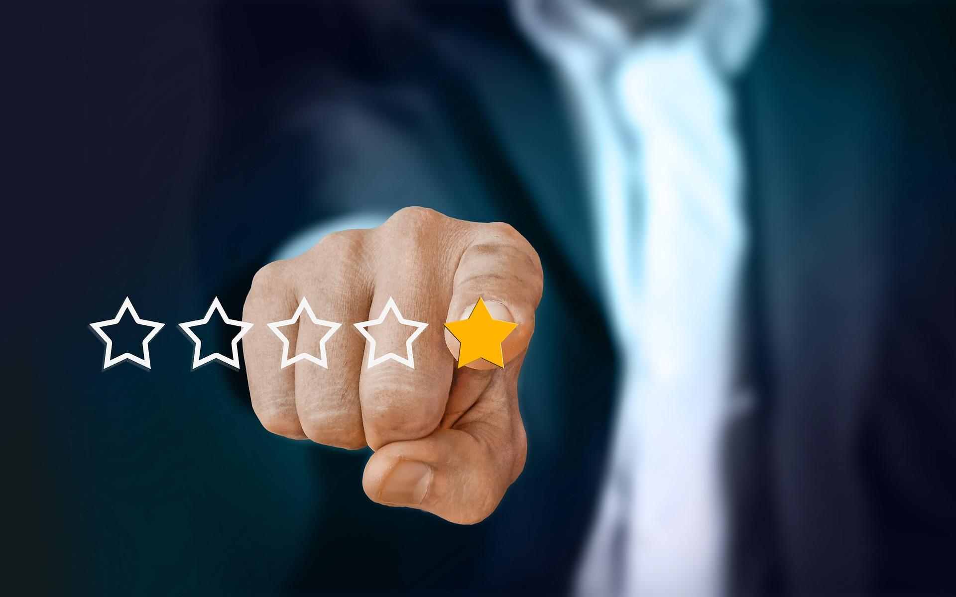 Rating mit einem Stern